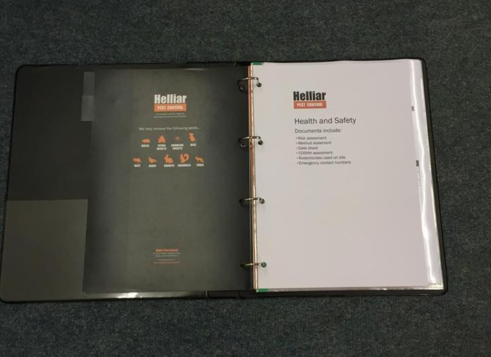 Health and safety log book